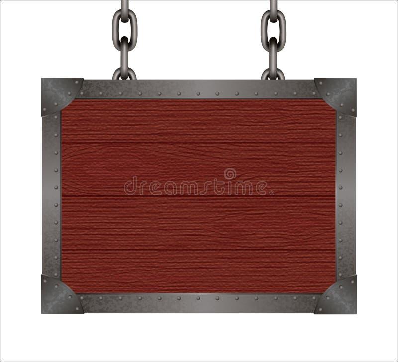 Signe de séquoia illustration stock