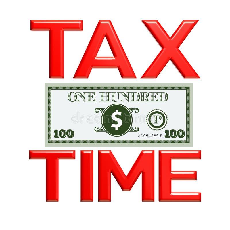 Signe de saison d'impôts l'illustration 3d rendent illustration stock