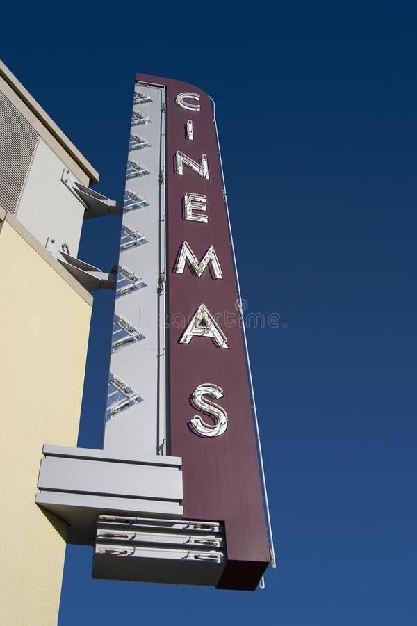 Download Signe de salle de cinéma image stock. Image du amusement - 733457