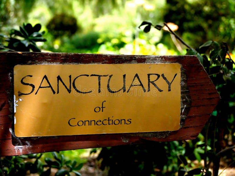 Signe de sanctuaire photos libres de droits