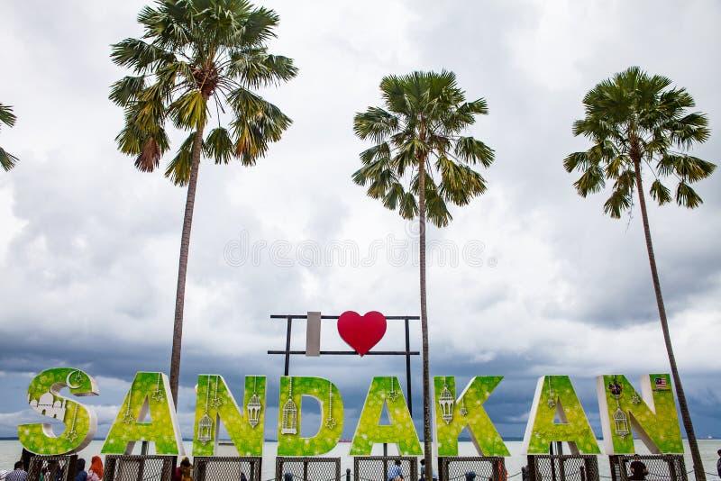 Signe de Sandakan d'amour, Sabah, Born?o, Malaisie image libre de droits