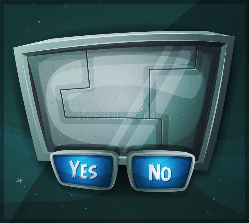 Signe de Scifi de l'espace pour le jeu d'Ui illustration de vecteur