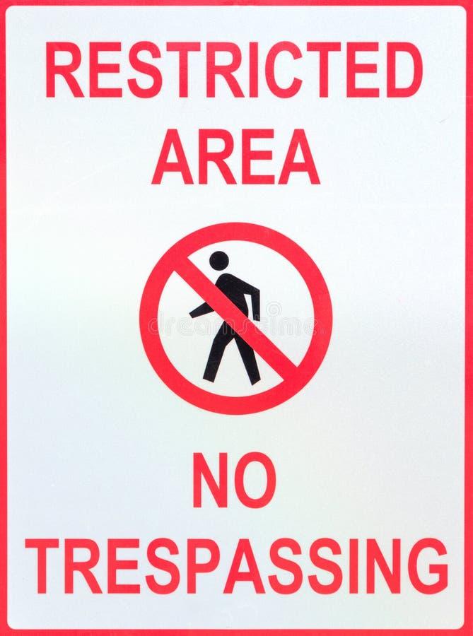 Signe de secteur restreint image libre de droits