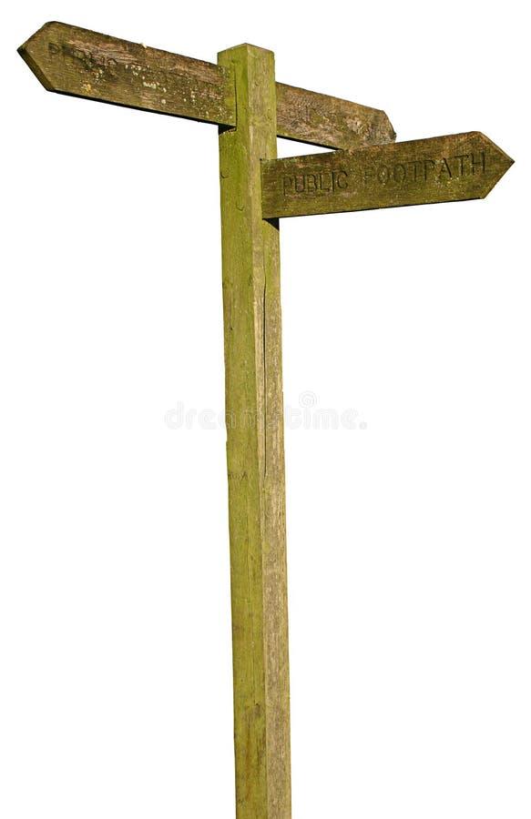 Signe de sentier piéton photos stock