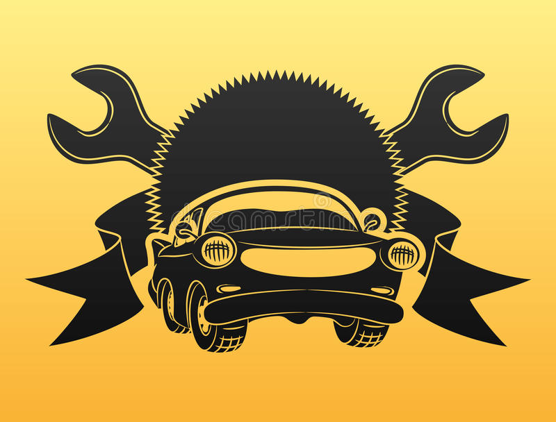 Signe de service de voiture. illustration de vecteur