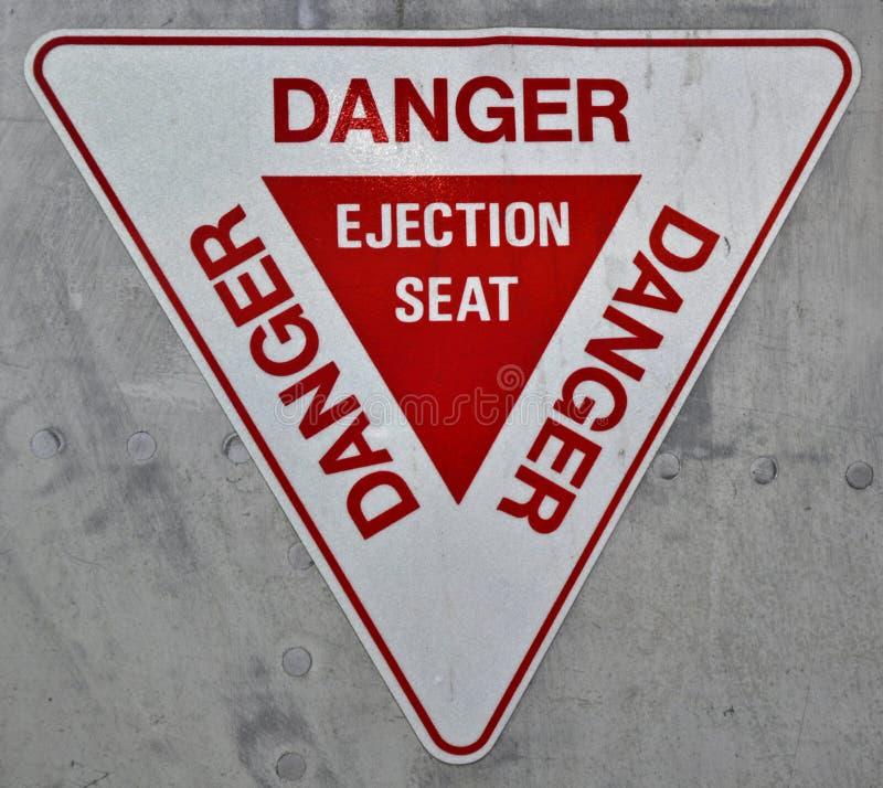 Signe de siège éjectable images libres de droits