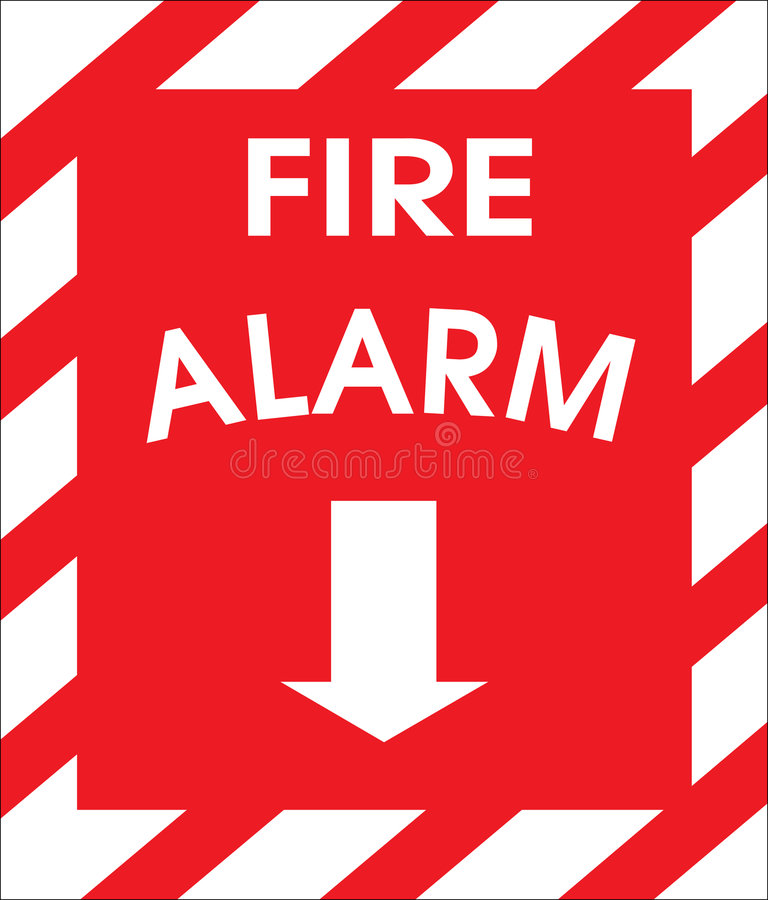 signe de signal d'incendie illustration stock