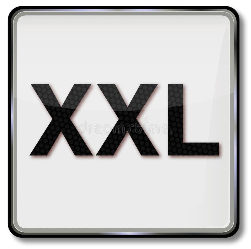 Signe de soin de textile avec la taille XXL de robe illustration de vecteur