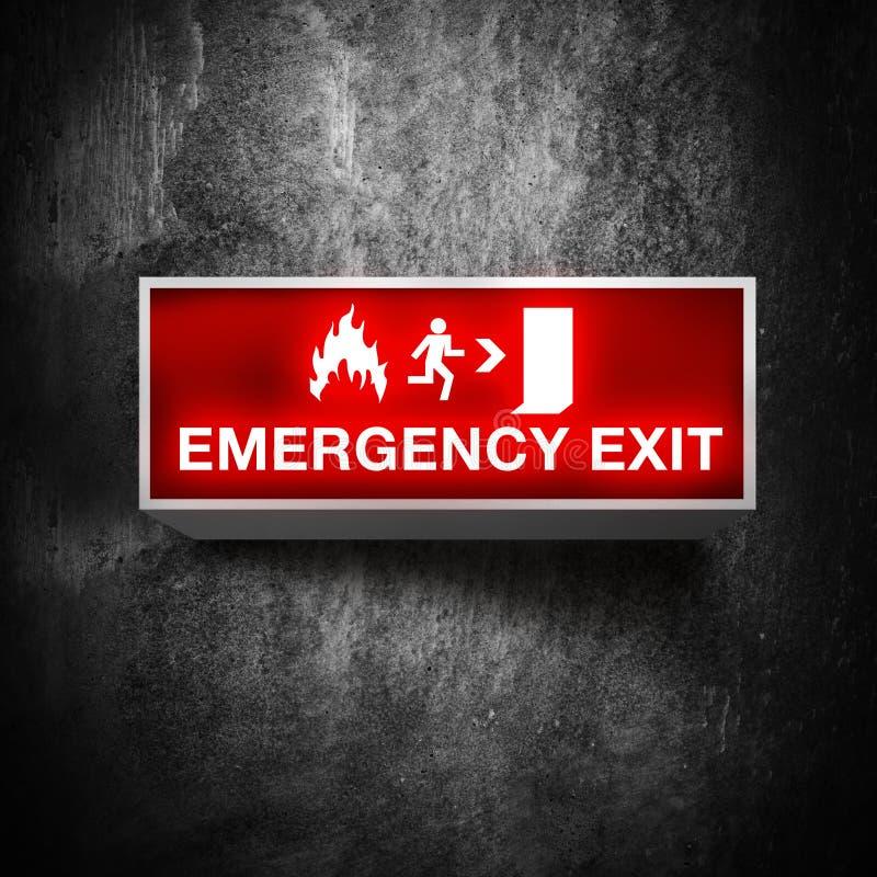 Signe de sortie de secours illustration libre de droits