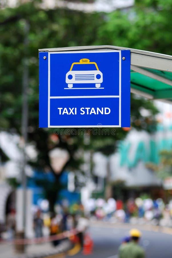 Signe de stand de taxi photo libre de droits