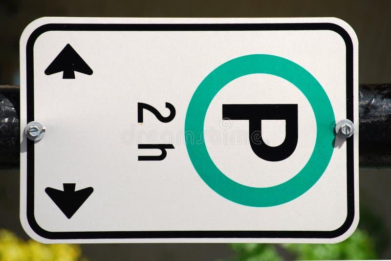 Signe de stationnement image libre de droits