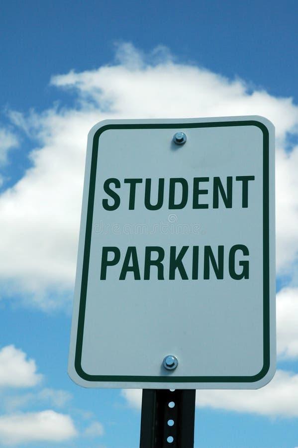 Signe de stationnement d'étudiant photo stock