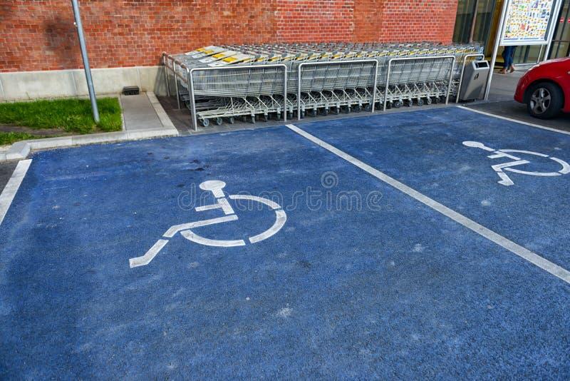 Signe de stationnement handicapé images libres de droits