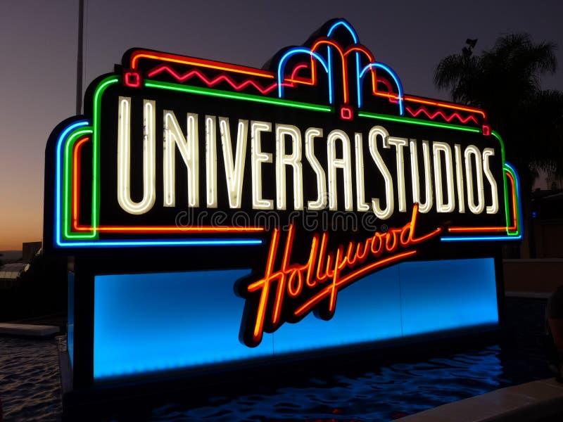 Signe de studios universels, Hollywood photo libre de droits