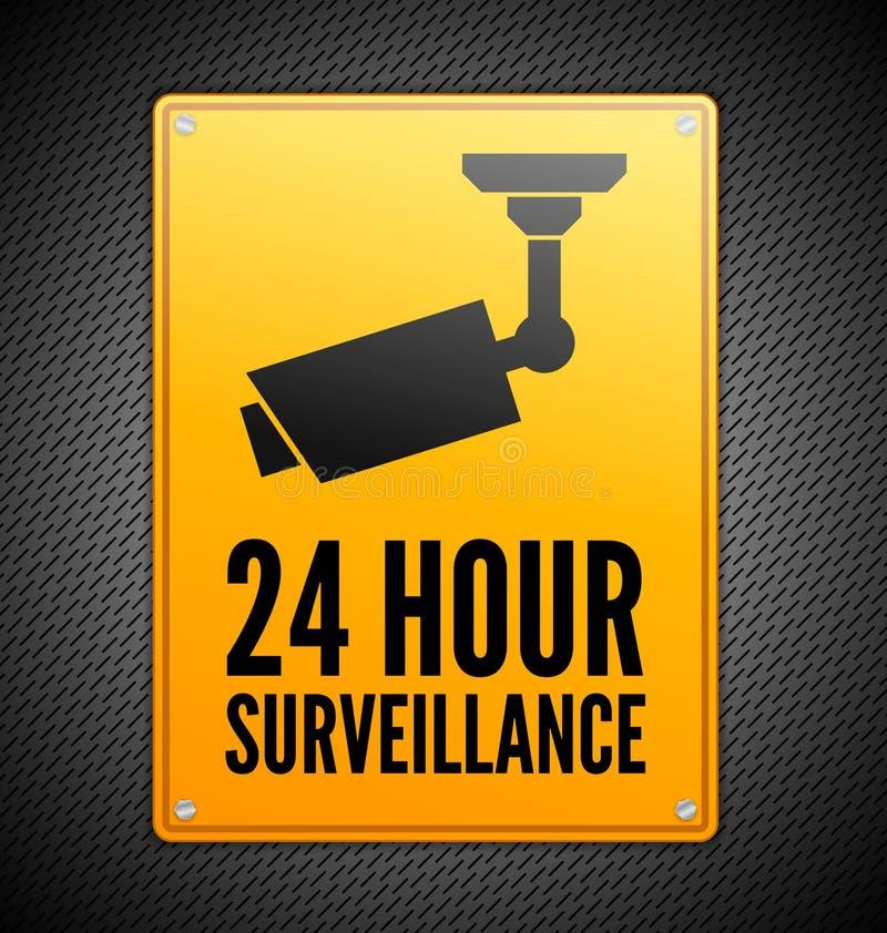 Signe de surveillance illustration de vecteur