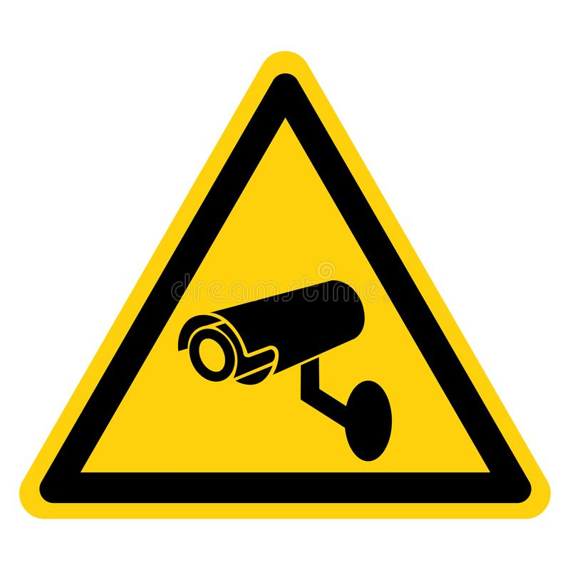 Signe de symbole de caméra de sécurité de télévision en circuit fermé, illustration de vecteur, isolat sur le label blanc de fond illustration de vecteur