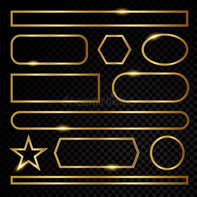 Signe de symbole d'éléments d'or illustration stock