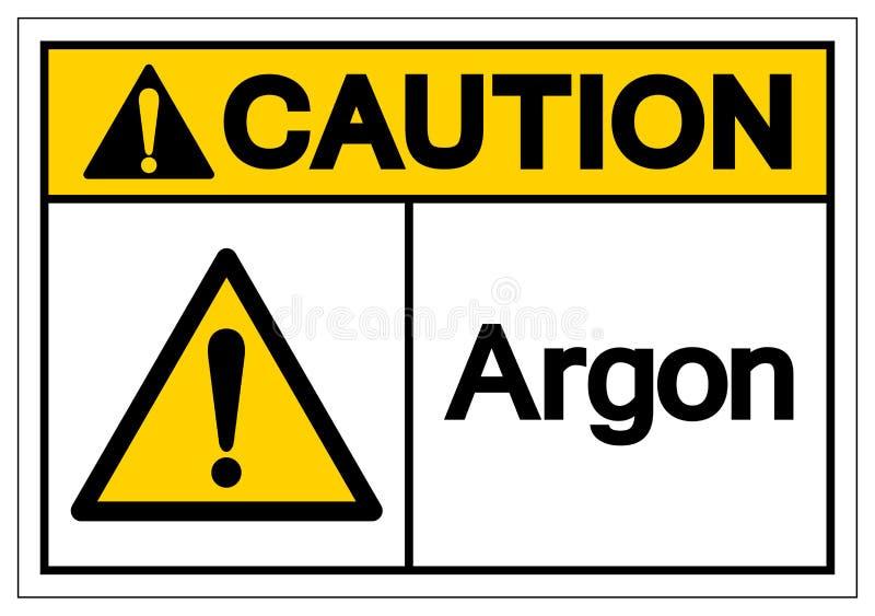 Signe de symbole d'argon de précaution, illustration de vecteur, isolat sur le label blanc de fond EPS10 illustration de vecteur