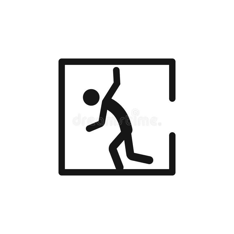 Signe de symbole de l'espace confiné de danger, illustration de vecteur, isolat sur l'icône blanche de fond EPS10 Graphisme de ve illustration de vecteur