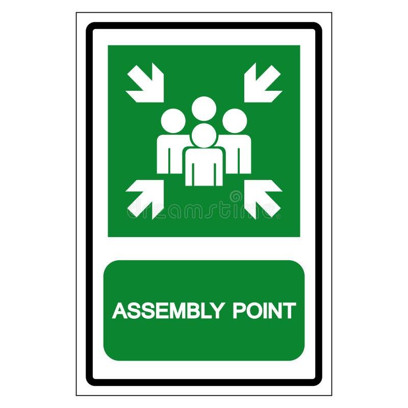 Signe de symbole de point d'Assemblée, illustration de vecteur, d'isolement sur le label blanc de fond EPS10 illustration stock