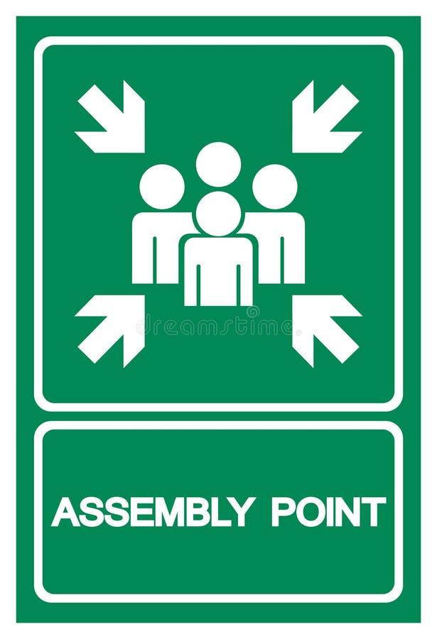 Signe de symbole de point d'Assembl?e, illustration de vecteur, d'isolement sur le label blanc de fond EPS10 illustration stock