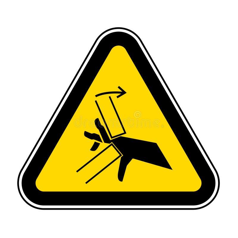 Signe de symbole de point d'invariance d'?crasement de main, illustration de vecteur, isolat sur le label blanc de fond EPS10 illustration libre de droits
