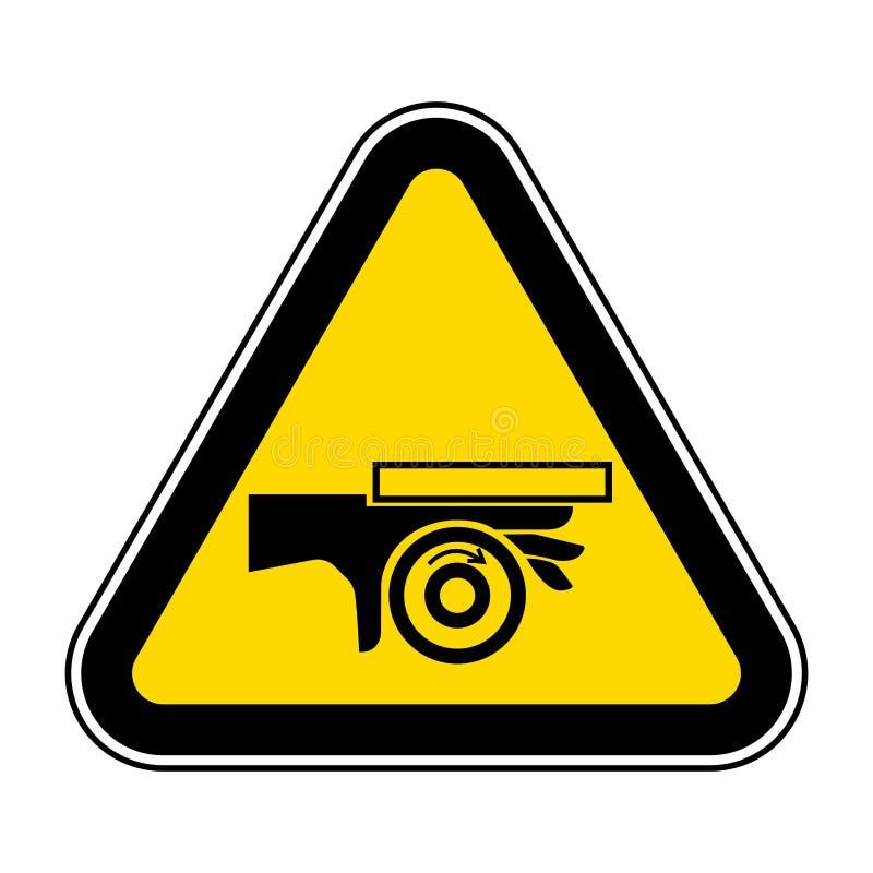 Signe de symbole de point d'invariance de rouleau d'?crasement de main, illustration de vecteur, isolat sur le label blanc de fon illustration de vecteur