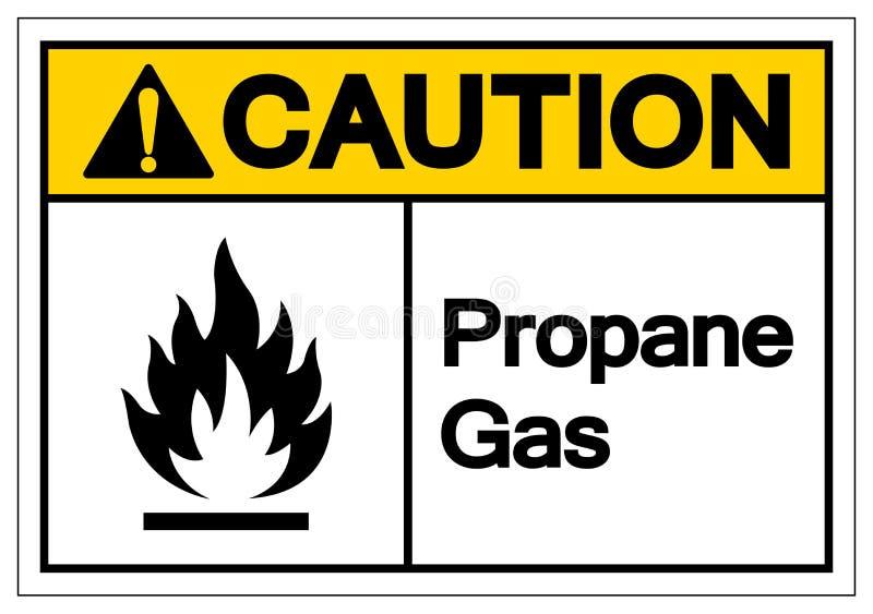 Signe de symbole de propane de précaution, illustration de vecteur, isolat sur le label blanc de fond EPS10 illustration stock