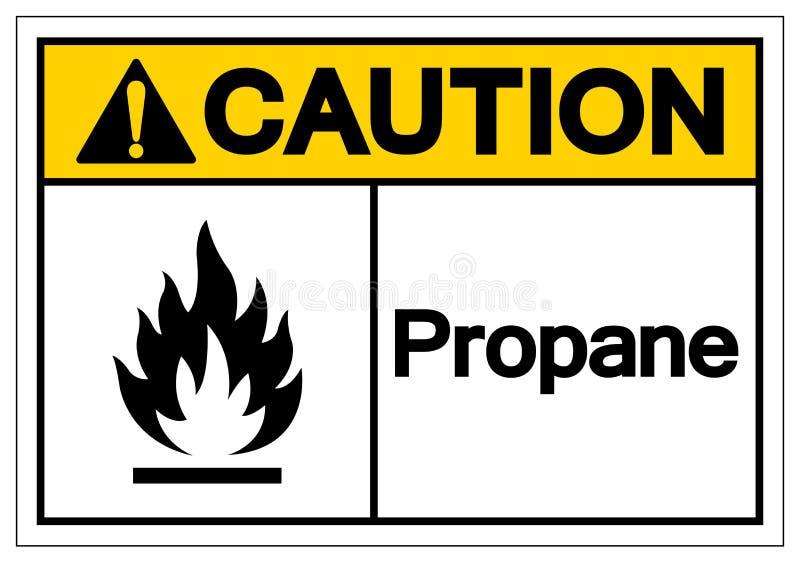 Signe de symbole de propane de précaution, illustration de vecteur, isolat sur le label blanc de fond EPS10 illustration libre de droits
