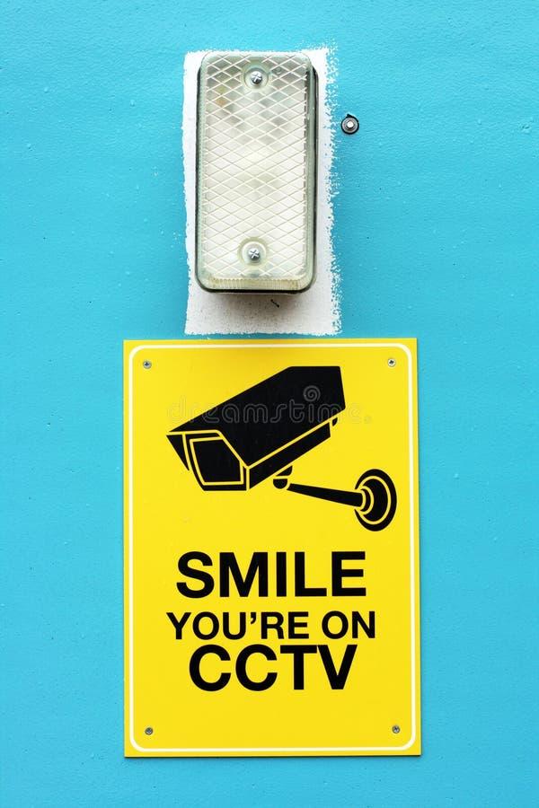Signe de télévision en circuit fermé photographie stock libre de droits