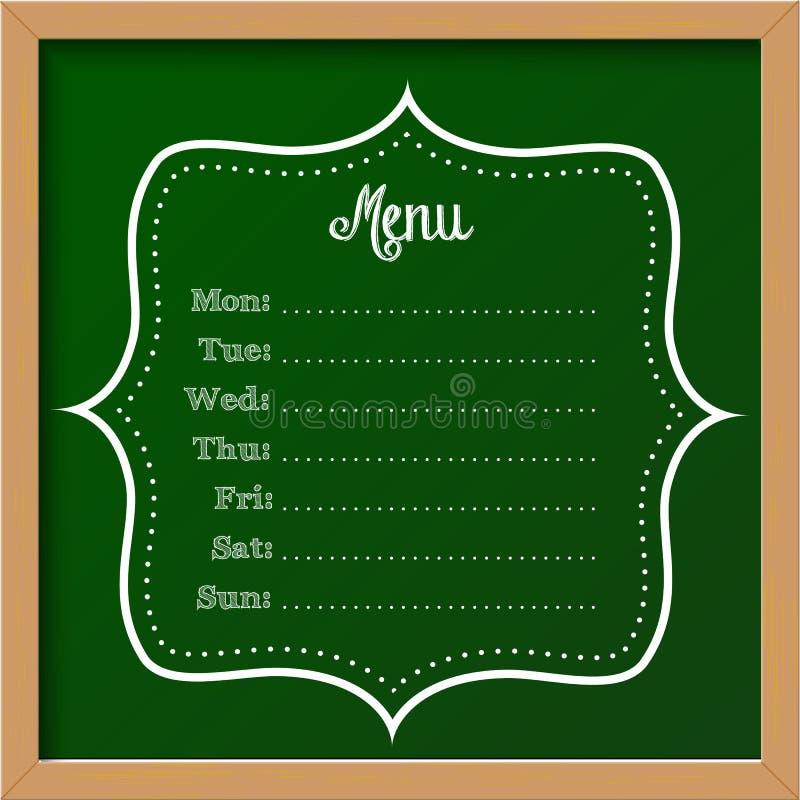 signe de tableau - menu illustration stock
