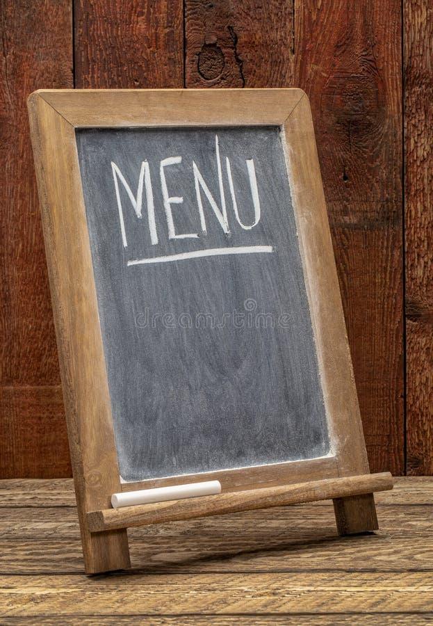 Signe de tableau noir de menu image libre de droits