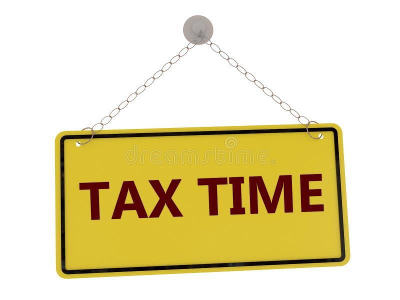 Signe de temps d'impôts illustration de vecteur