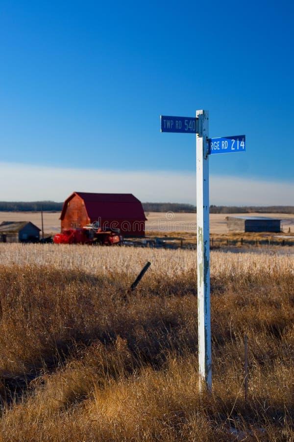 Signe de terres cultivables photos stock