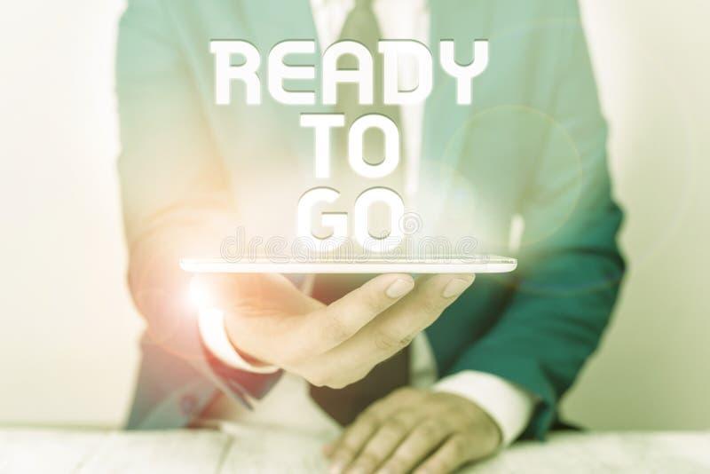 Signe de texte affichant Prêt à aller Photo conceptuelle Êtes-vous prêt à entreprendre une mission de voyage à l'avenir? photo libre de droits