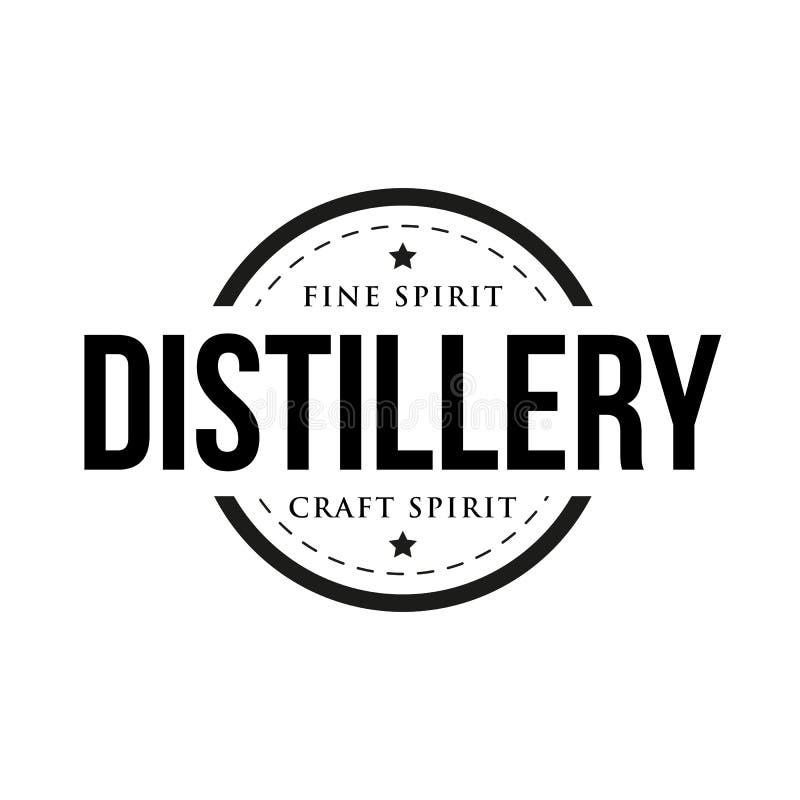 Signe de timbre de vintage de distillerie illustration stock