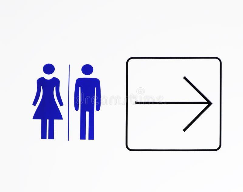 Signe de toilette photos libres de droits