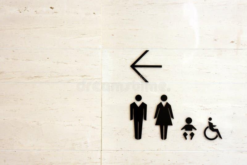 Signe de toilette images stock