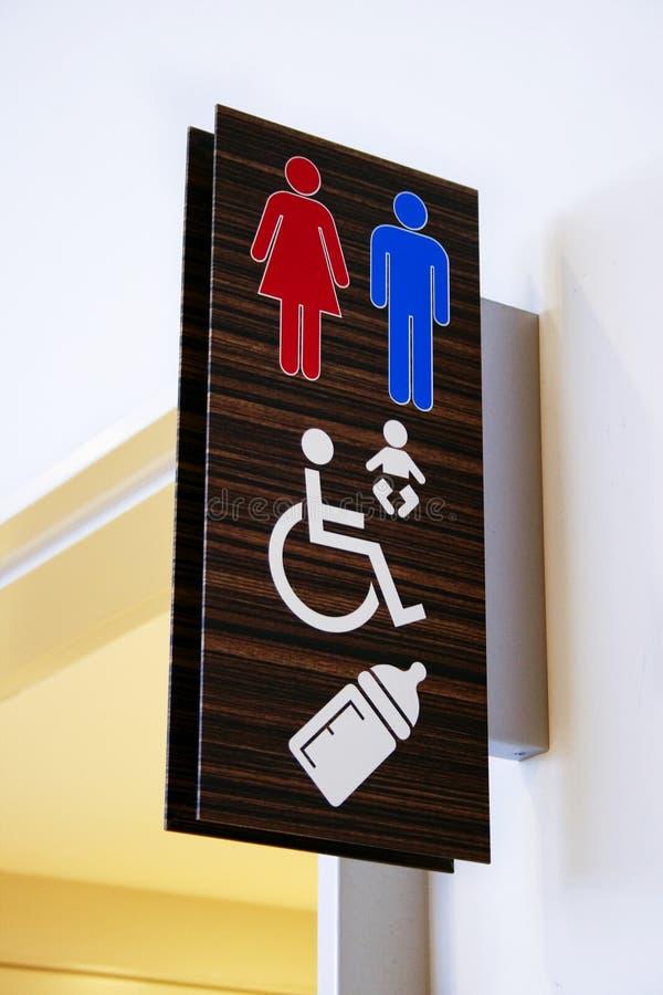 Signe de toilette images libres de droits