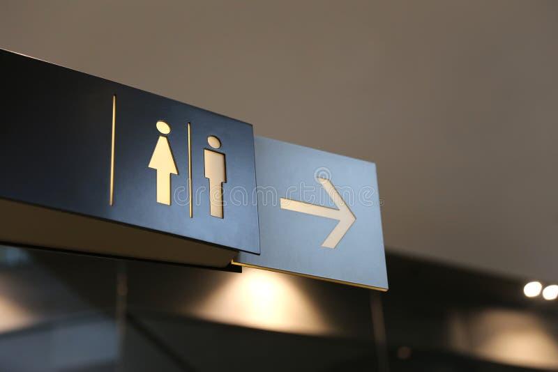 Signe de toilette photographie stock libre de droits