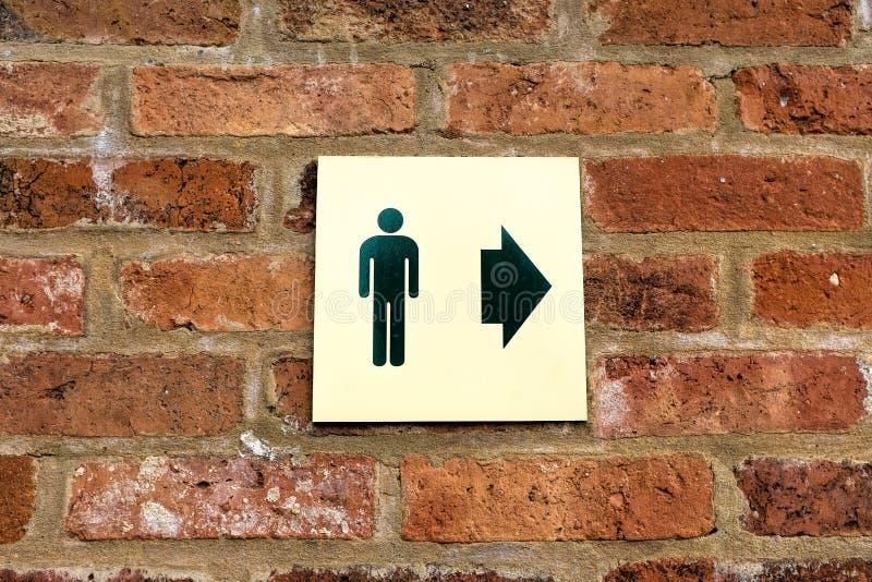 Signe de toilette de monsieurs photographie stock