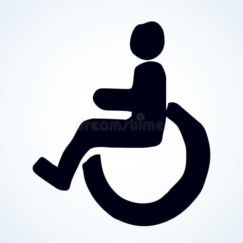 Signe de toilette pour les handicapés Retrait de vecteur illustration de vecteur