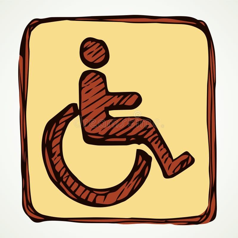 Signe de toilette pour les handicapés Retrait de vecteur illustration stock