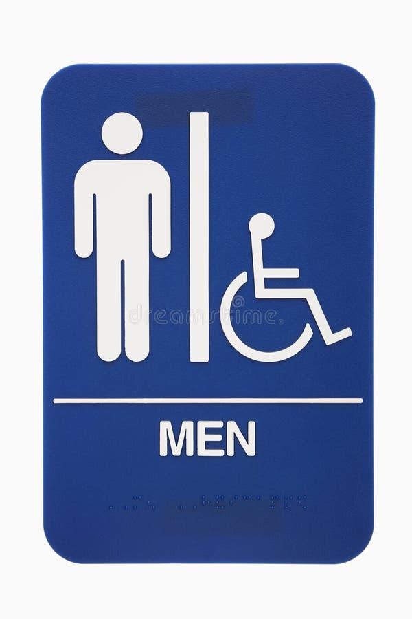 Signe de toilettes d'hommes. photographie stock libre de droits