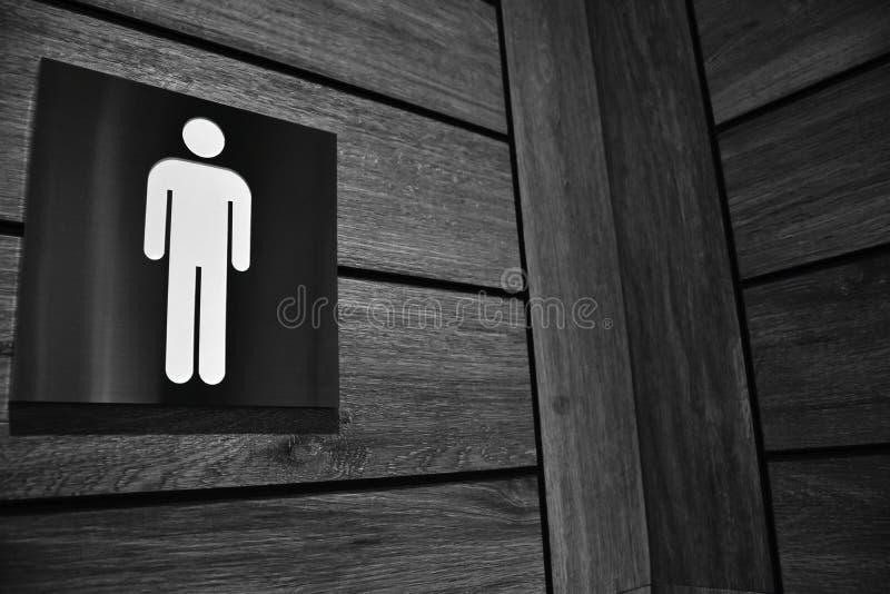 Signe de toilettes du ` s d'hommes image libre de droits