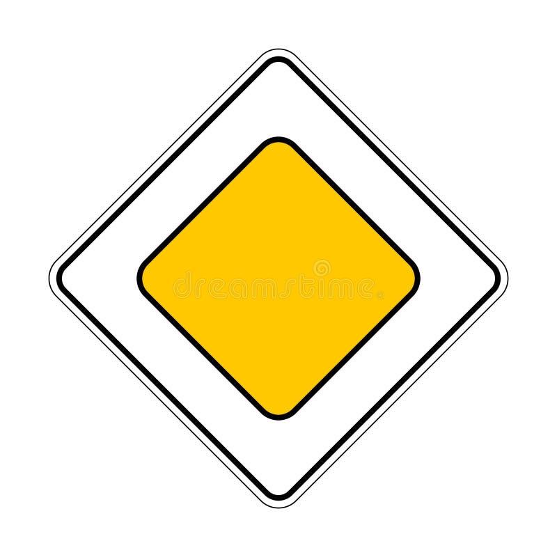 signe de Trafic-route illustration stock