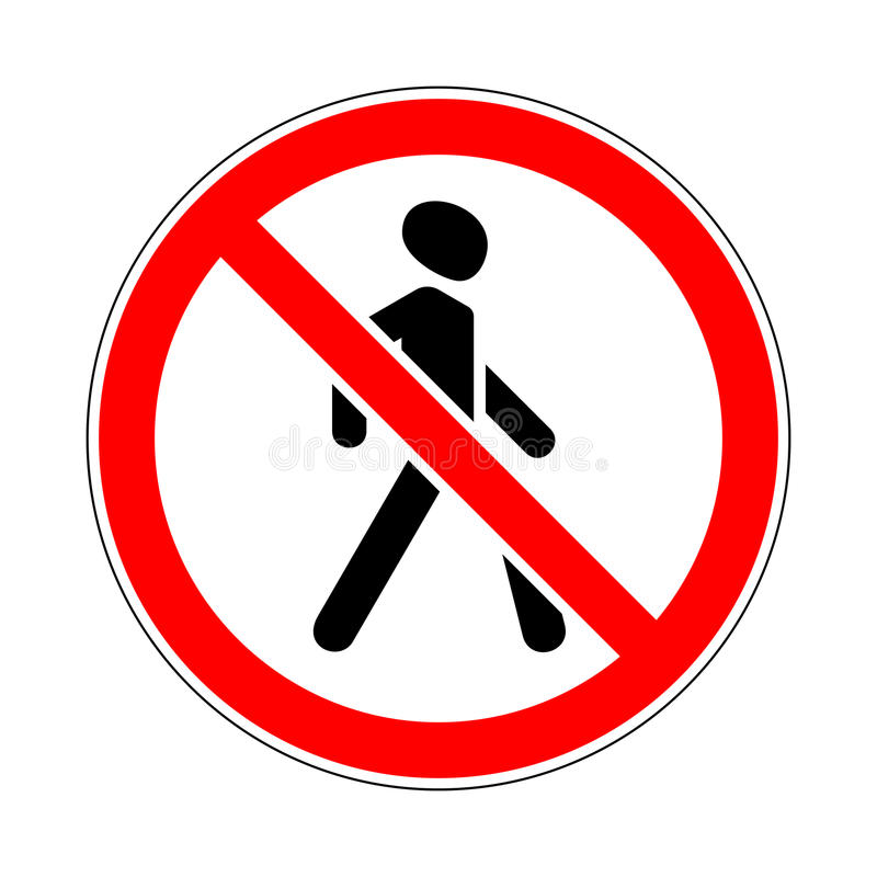 signe de Trafic-route illustration libre de droits