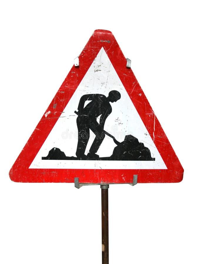 Signe de travaux de route images libres de droits