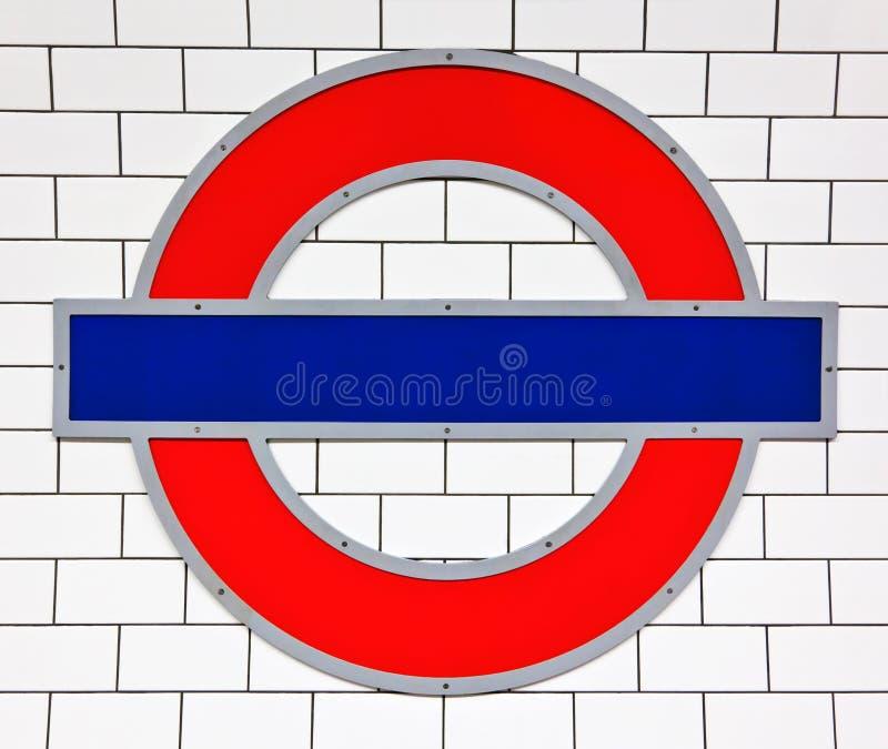 Signe de tube de Londres photos libres de droits