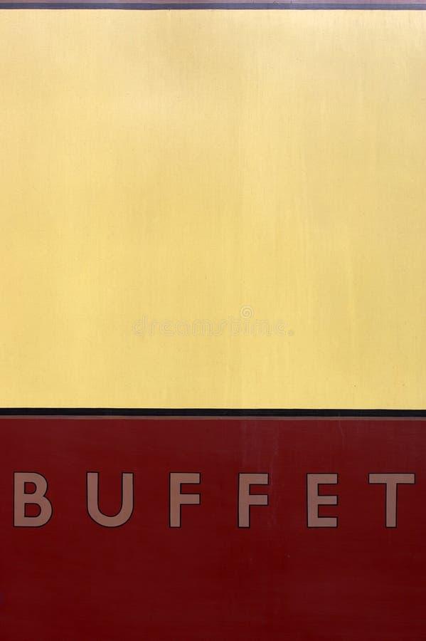 Signe de véhicule de buffet image libre de droits